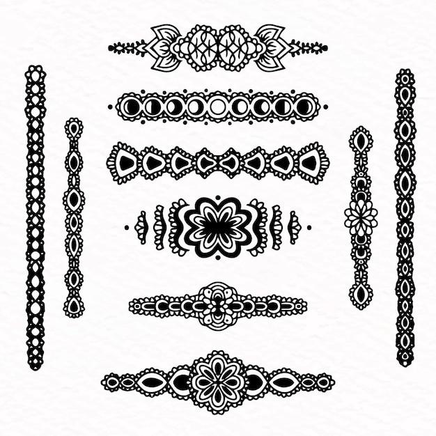Divisor colección estilo dibujado a mano vector gratuito