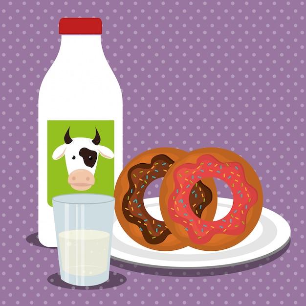 Donut postre comida vector gratuito