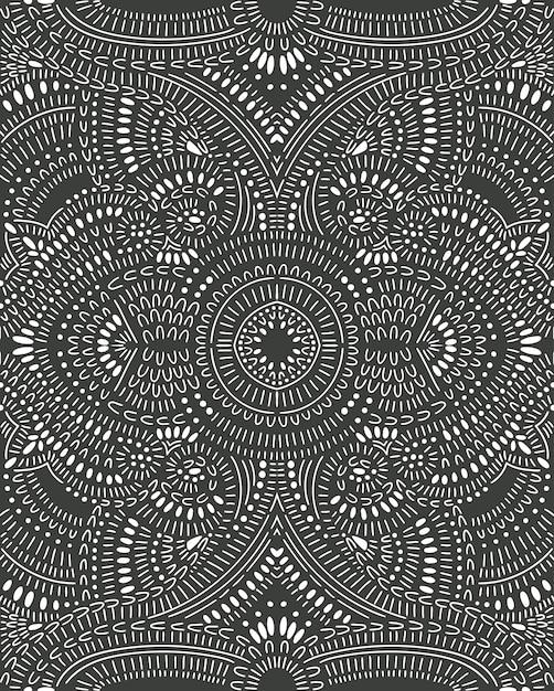 Doodle patrón abstracto sin fisuras Vector Premium