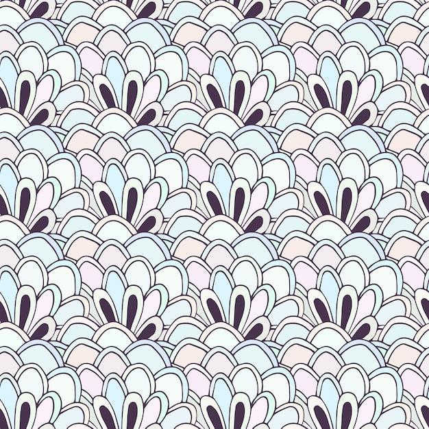 Doodle de patrones sin fisuras con flores. vector para colorear ...