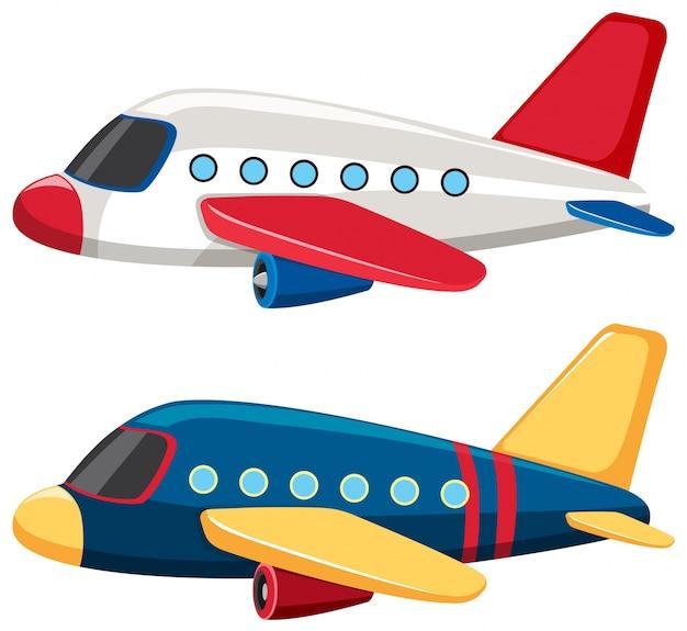 Dos Aviones Con Colores Azules Y Blancos Descargar Vectores Premium