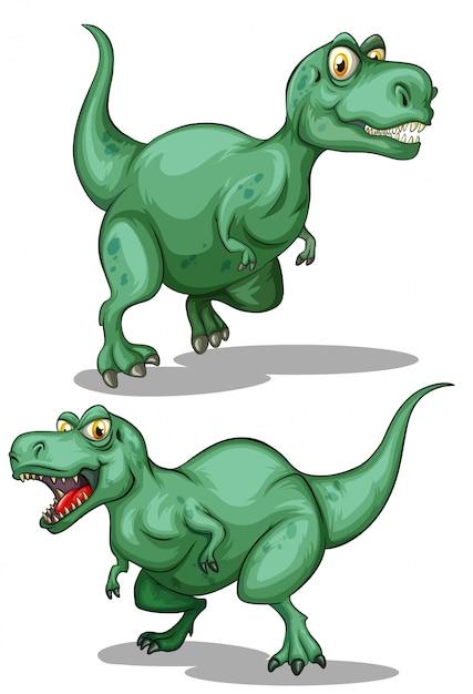 Dos Dinosaurios Verdes Sobre Blanco Vector Premium El mundo de los dinosaurios explicado para niños con imágenes y video. https www freepik es profile preagreement getstarted 4970249