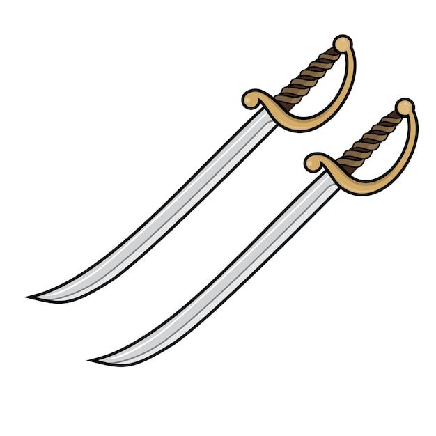 Dos espadas pirata   Descargar Vectores Premium