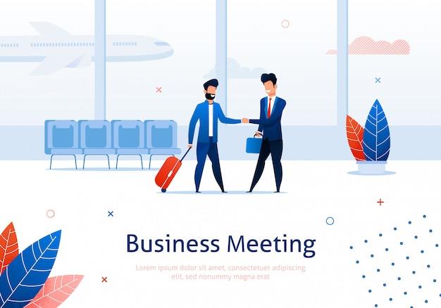 Dos hombres de negocios dándose la mano. Vector Premium