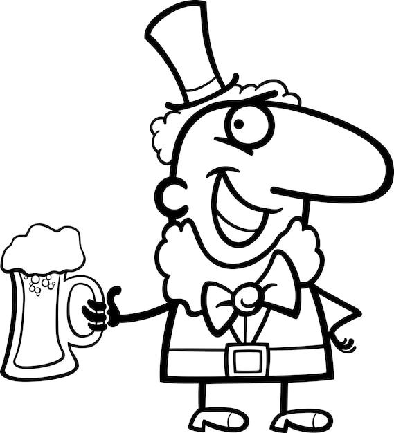 Duende con dibujos animados de cerveza para colorear | Descargar ...
