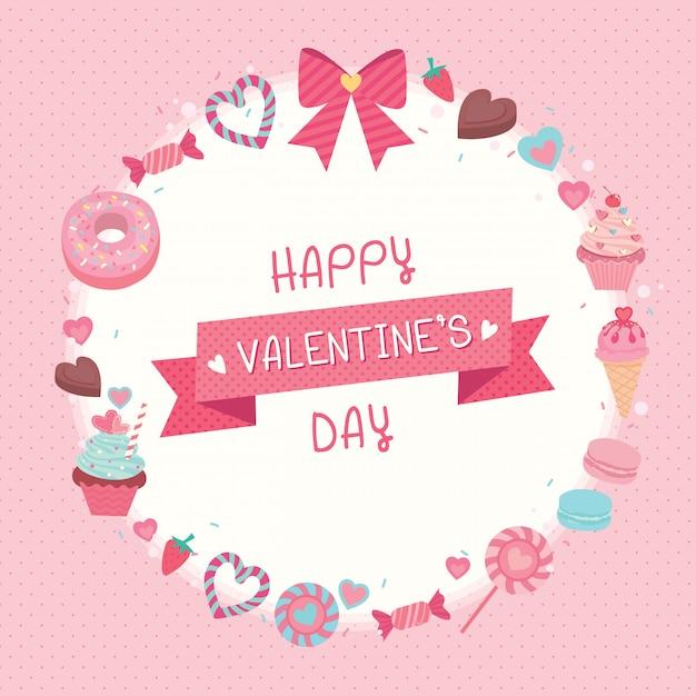 Dulces valentines Vector Premium