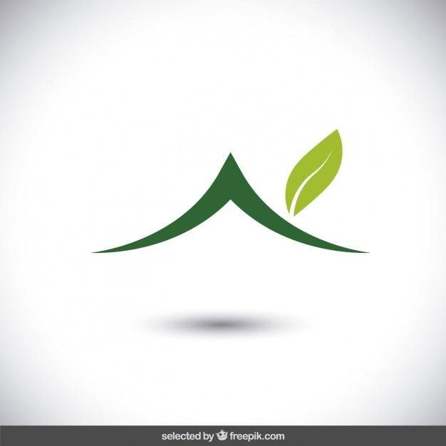Eco insignia de la casa vector gratuito