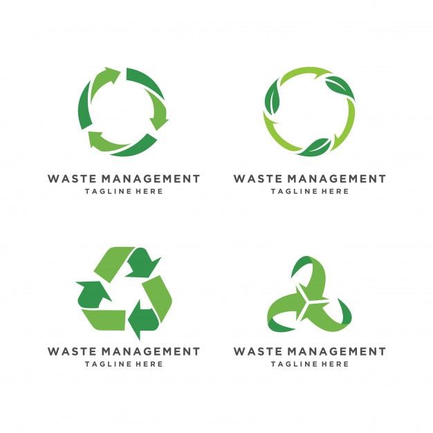 Eco reciclado conjunto de iconos. recicle el símbolo de la ecología de las flechas en el fondo blanco Vector Premium