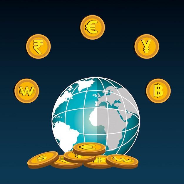 Economia global vector gratuito