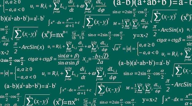 Ecuación matemática, matemática, fórmulas aritméticas. Vector Premium