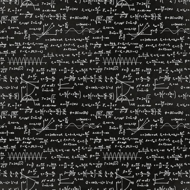 Ecuaciones matemáticas y patrón de fórmulas Vector Premium