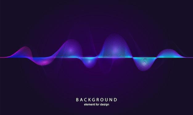 Ecualizador de música de fondo abstracto. Vector Premium