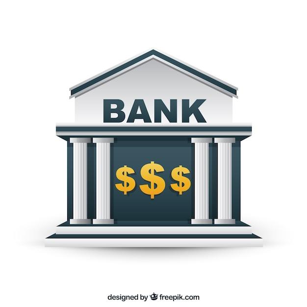 Edificio del banco vector gratuito