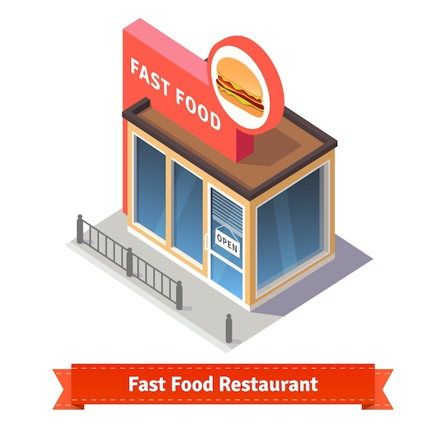 Edificio de restaurante y tienda de comida rápida | Descargar ...