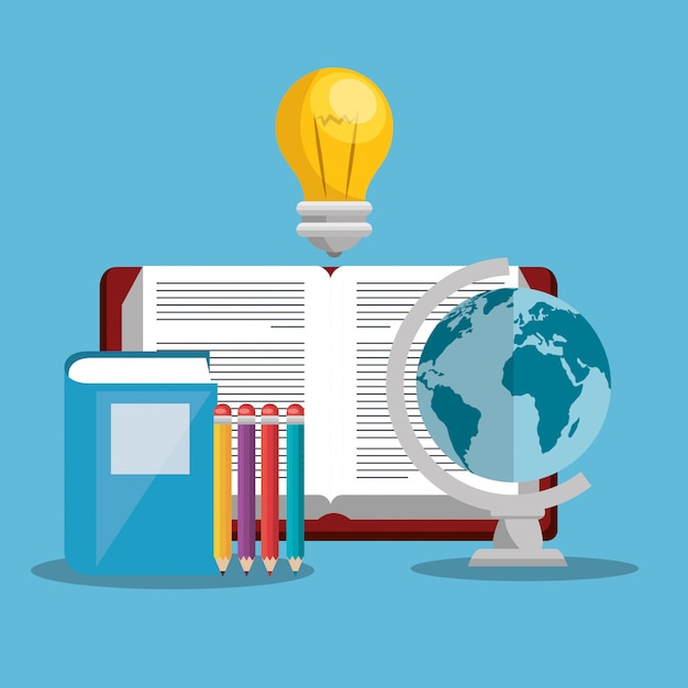 Educación fácil aprendizaje set iconos vector gratuito
