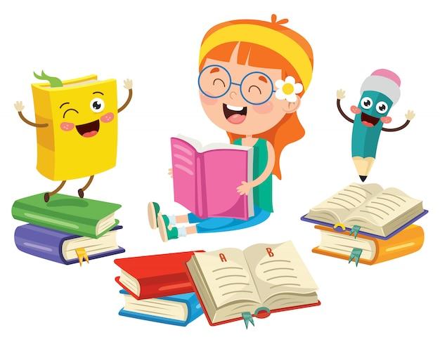 Educacion infantil Vector Premium