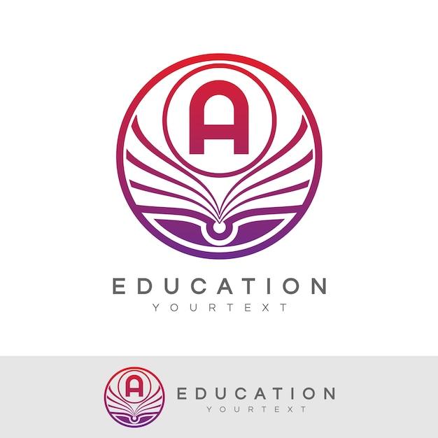 Educación inicial letra a diseño de logotipo | Descargar Vectores ...