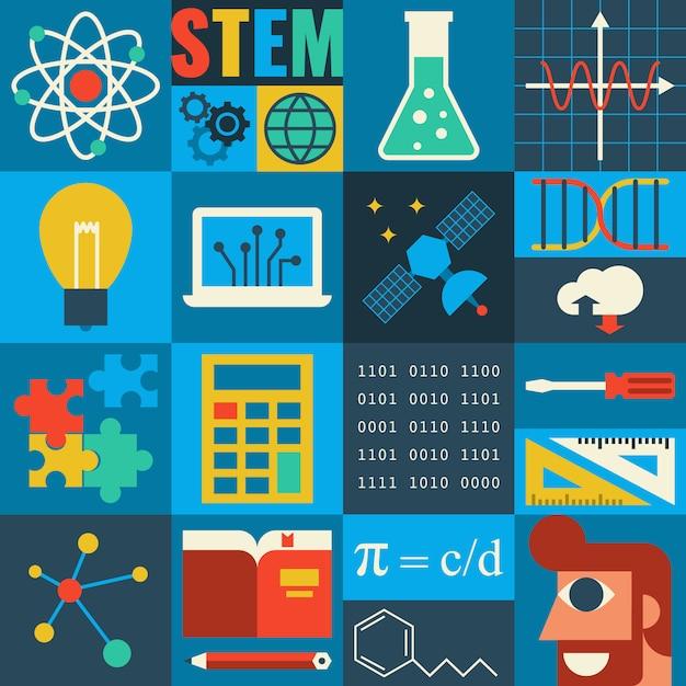 Educación stem Vector Premium