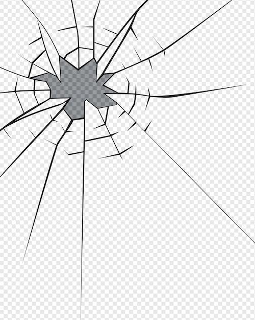 Efecto de vidrio roto. agujero en el vidrio roto | Descargar ...