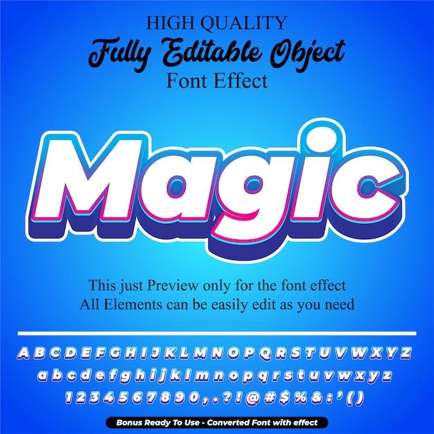 Efecto de fuente editable de estilo de texto mágico Vector Premium