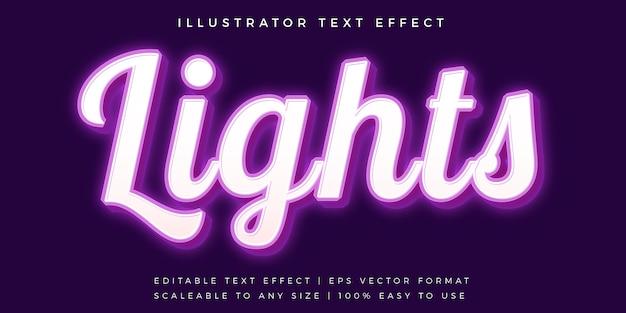 Efecto de fuente de estilo de texto informal púrpura brillante Vector Premium