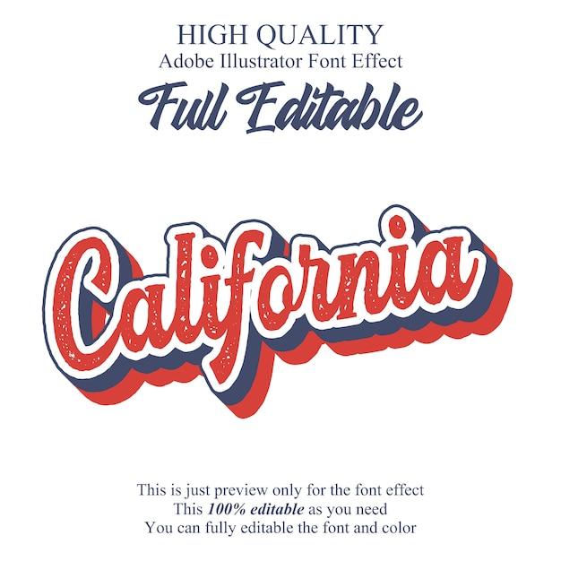 Efecto de fuente de tipografía editable retro script Vector Premium