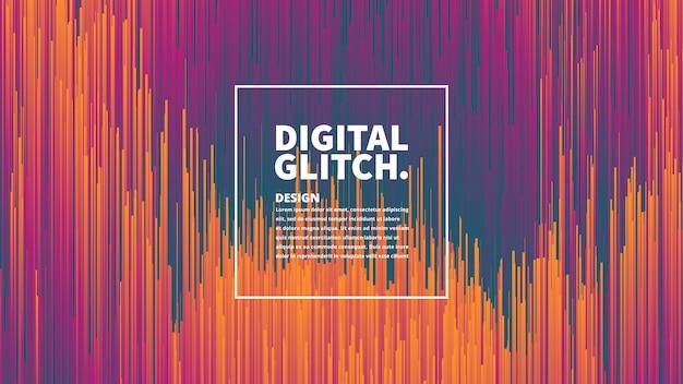 Efecto de glitch digital vector fondo abstracto Vector Premium