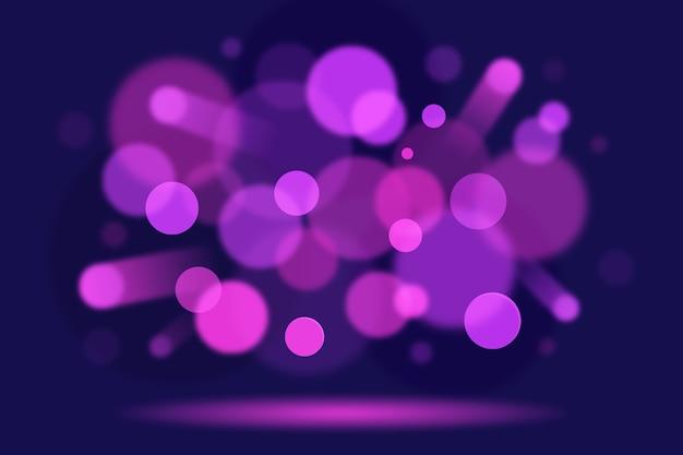 Efecto de luces bokeh sobre diseño de fondo oscuro vector gratuito