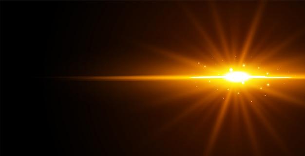 Efecto de luz brillante sobre fondo negro vector gratuito
