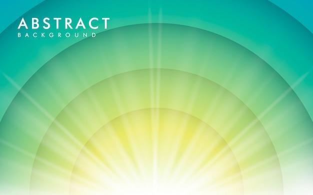 Efecto de luz solar sobre fondo azul degradado Vector Premium