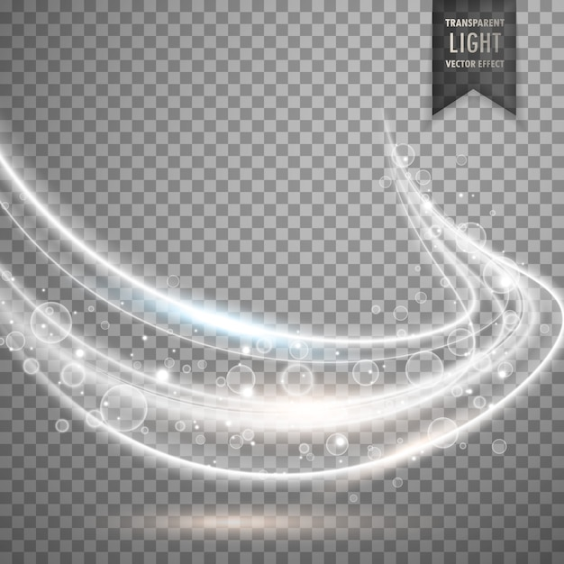 Efecto de onda de luz blanca vector gratuito