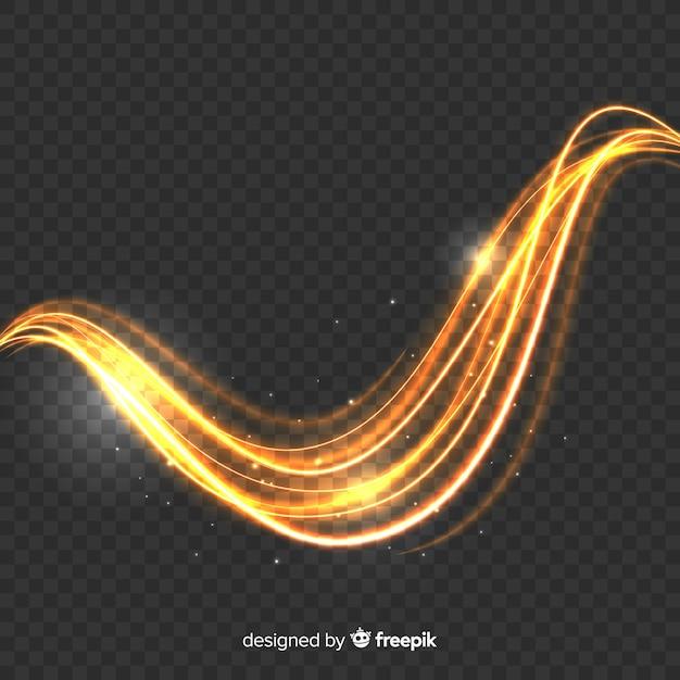 Efecto de onda de luz brillante vector gratuito
