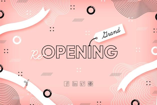 El efecto rosa de memphis vuelve a abrir pronto Vector Premium