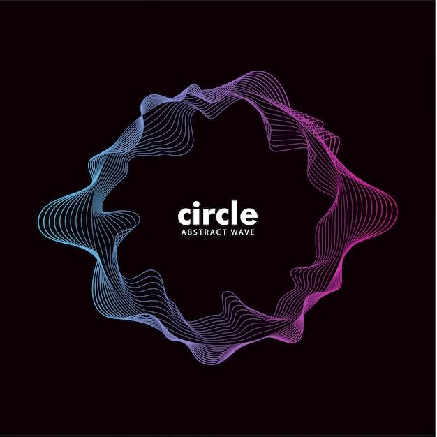 Efecto de sonido de onda de moda abstracta cirlce Vector Premium