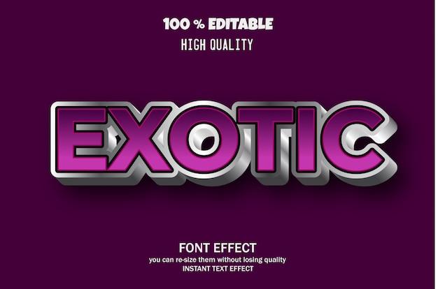 Efecto de texto 3d moderno, efecto de fuente editable Vector Premium