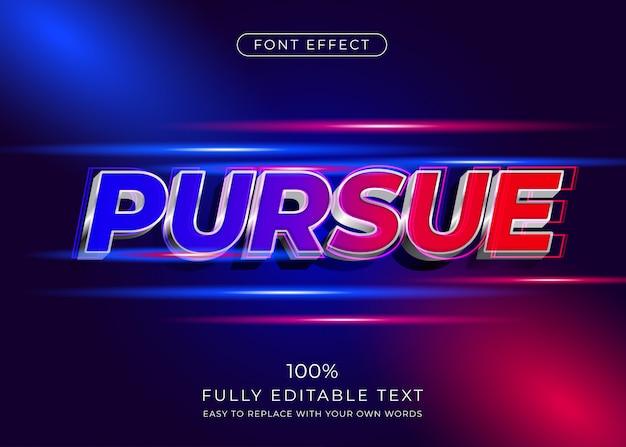 Efecto de texto 3d moderno con tema de movimiento. estilo de fuente editable Vector Premium