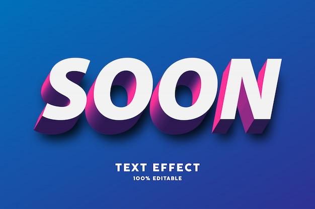 Efecto de texto blanco rojo púrpura 3d Vector Premium