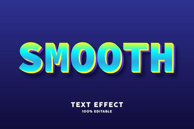 Efecto de texto de color fresco cian verde Vector Premium
