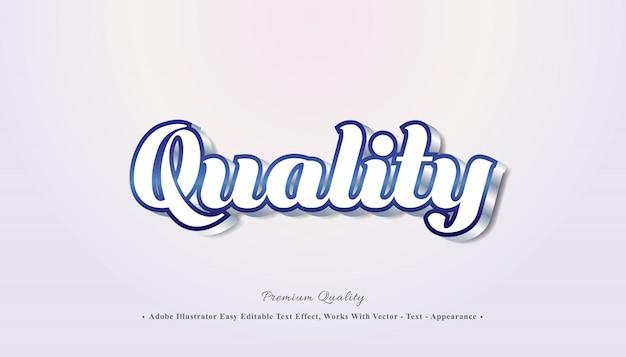 Efecto de texto editable 3d de calidad Vector Premium