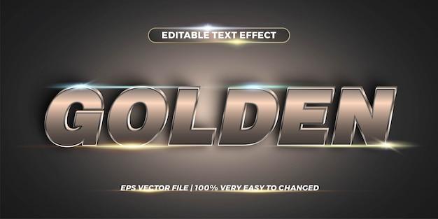 Efecto de texto editable: concepto de estilo de texto de chrome Vector Premium