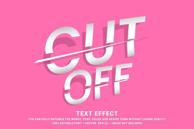 Efecto de texto editable - cortado Vector Premium