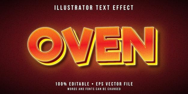 Efecto de texto editable - estilo horno muy caliente Vector Premium