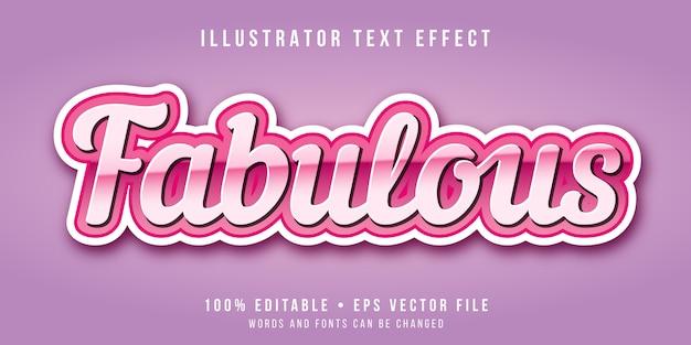 Efecto de texto editable - fabuloso estilo rosa Vector Premium