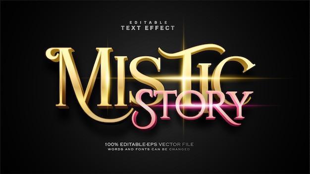 Efecto de texto de historia mística vector gratuito