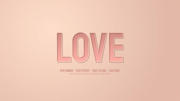 Efecto de texto con ilustraciones de escritura rosa con efectos de sombra. Vector Premium