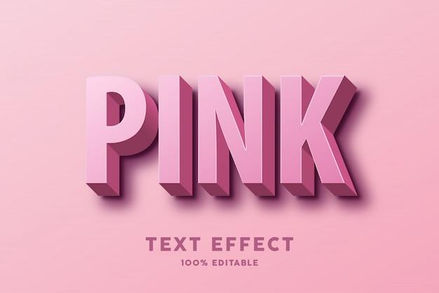 Efecto de texto rosa 3d Vector Premium