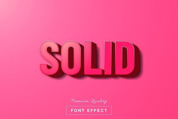 Efecto de texto sólido rosa 3d Vector Premium