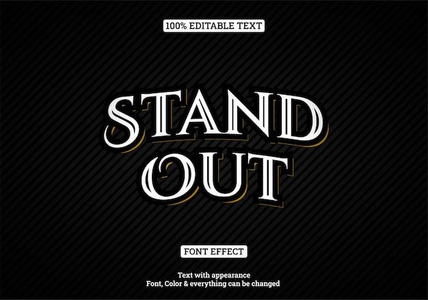 Efecto de texto de tipografía de estilo vintage Vector Premium
