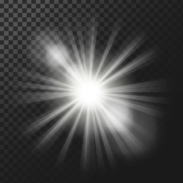 Efectos de luz de fondo vector gratuito
