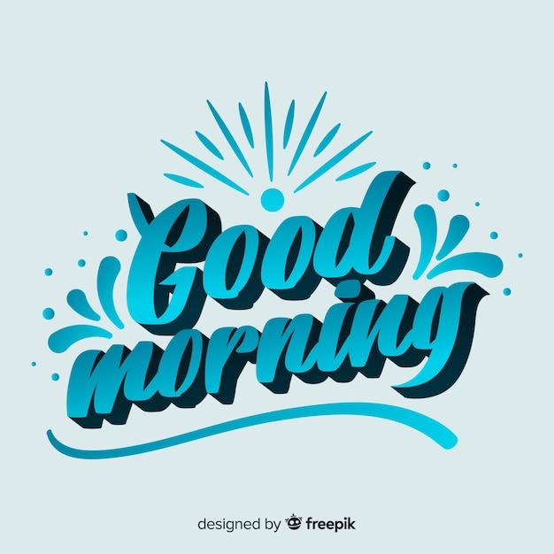 Ejemplo creativo de la buena mañana de las letras vector gratuito